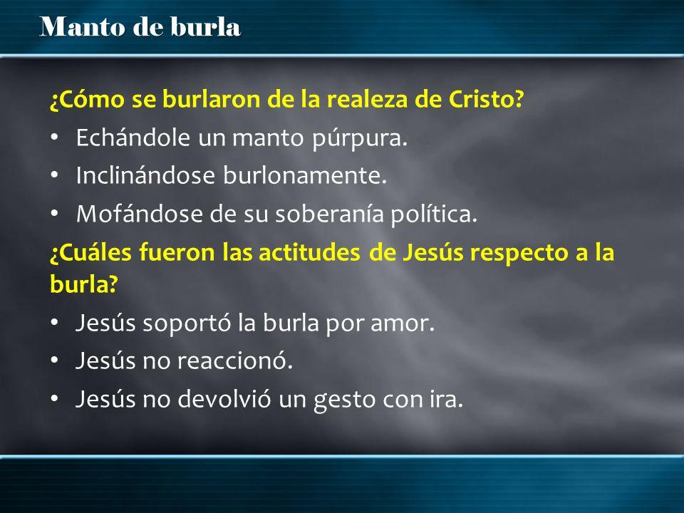 ¿Cómo se burlaron de la realeza de Cristo