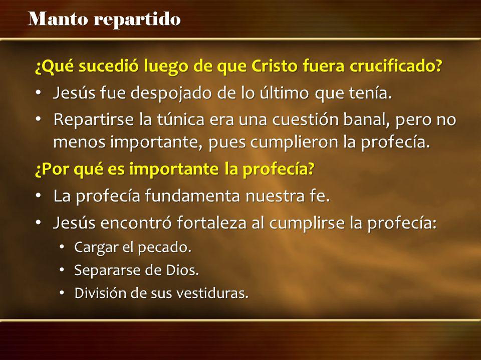 ¿Qué sucedió luego de que Cristo fuera crucificado