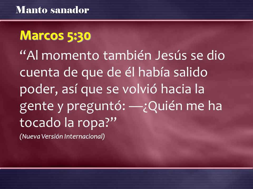 Marcos 5:30