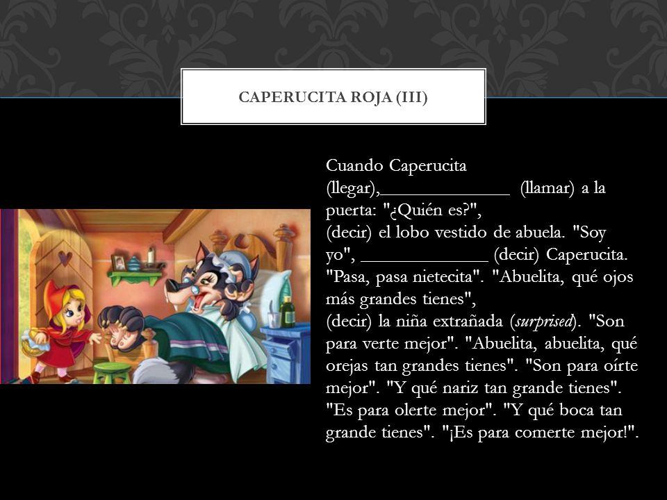 Caperucita roja (iii)