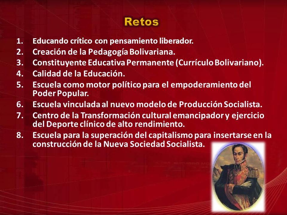 Retos Creación de la Pedagogía Bolivariana.