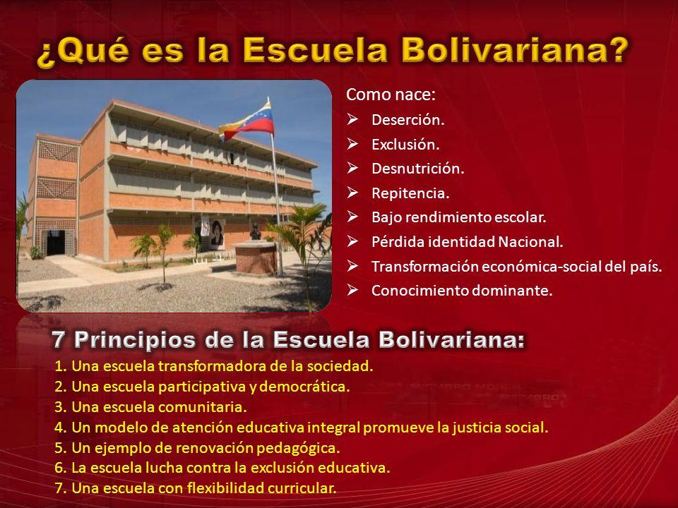 ¿Qué es la Escuela Bolivariana