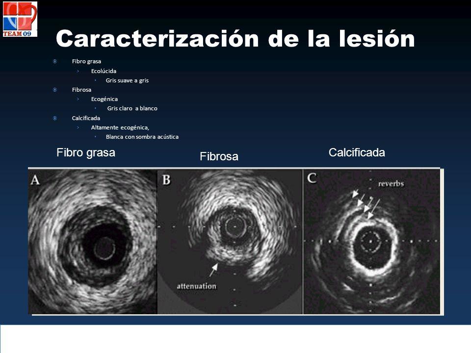 Caracterización de la lesión