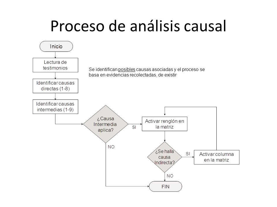 Proceso de análisis causal