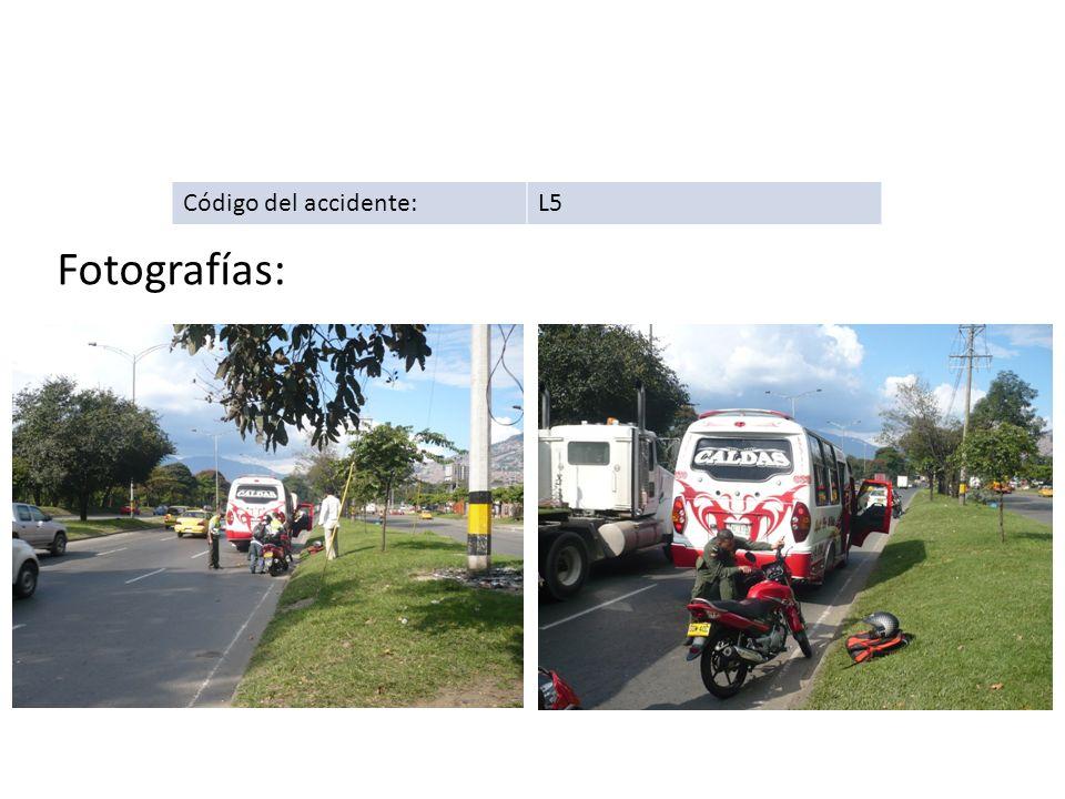 Código del accidente: L5 Fotografías: