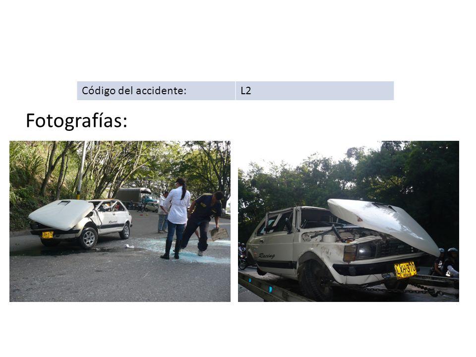 Código del accidente: L2 Fotografías: