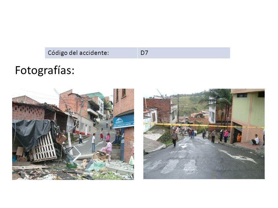Código del accidente: D7 Fotografías: