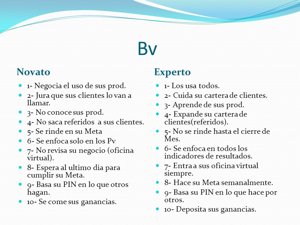 Bv Novato Experto 1- Negocia el uso de sus prod.