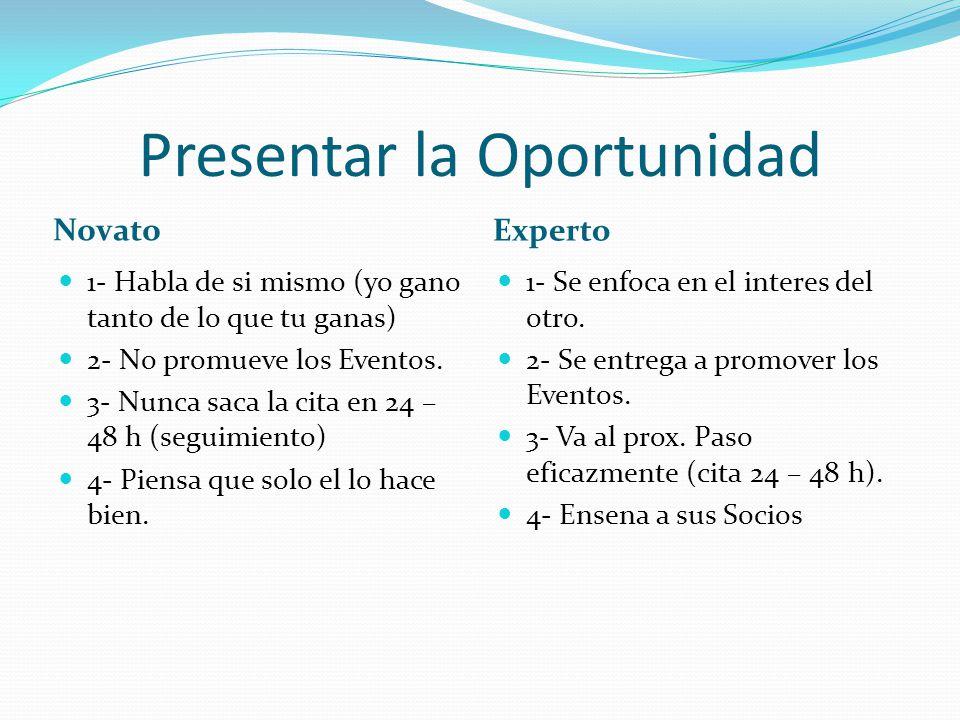 Presentar la Oportunidad