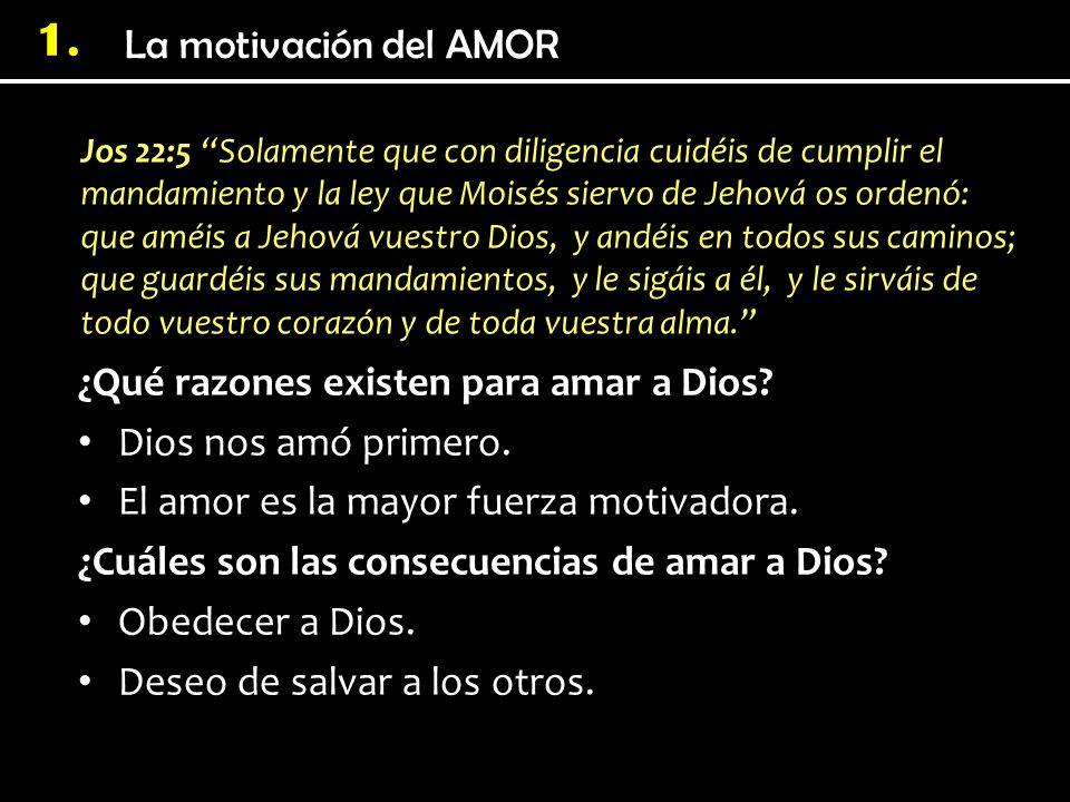 ¿Qué razones existen para amar a Dios Dios nos amó primero.