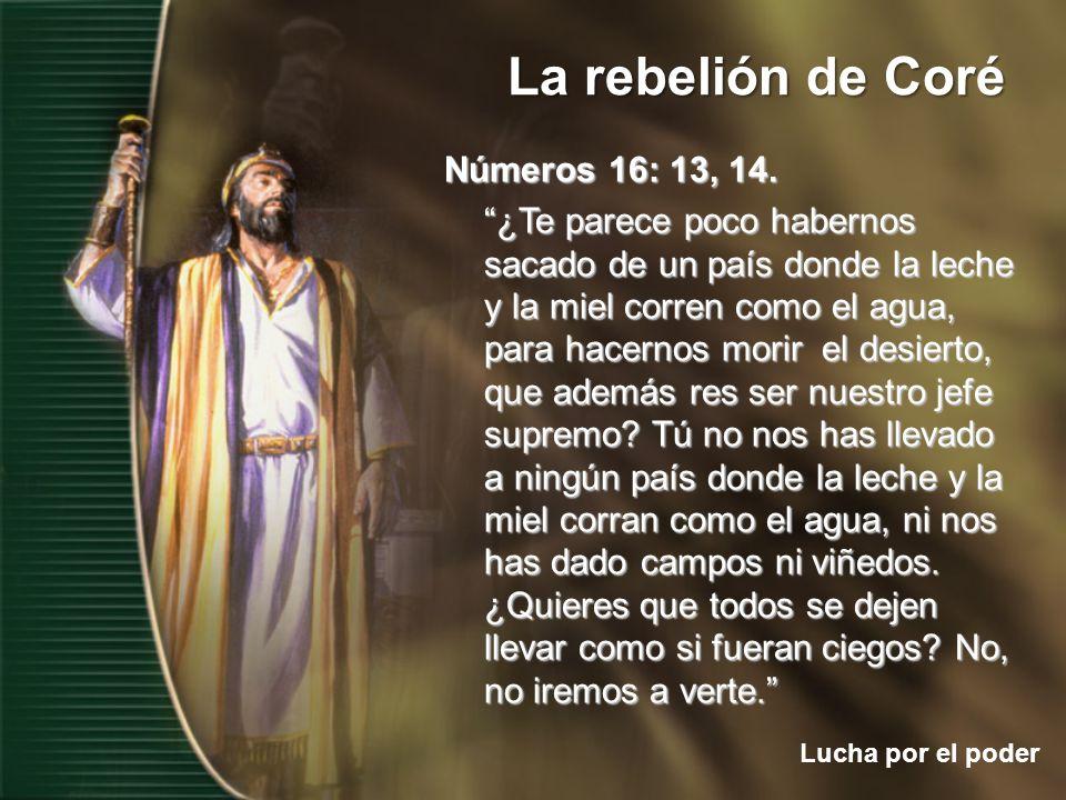 Números 16: 13, 14.