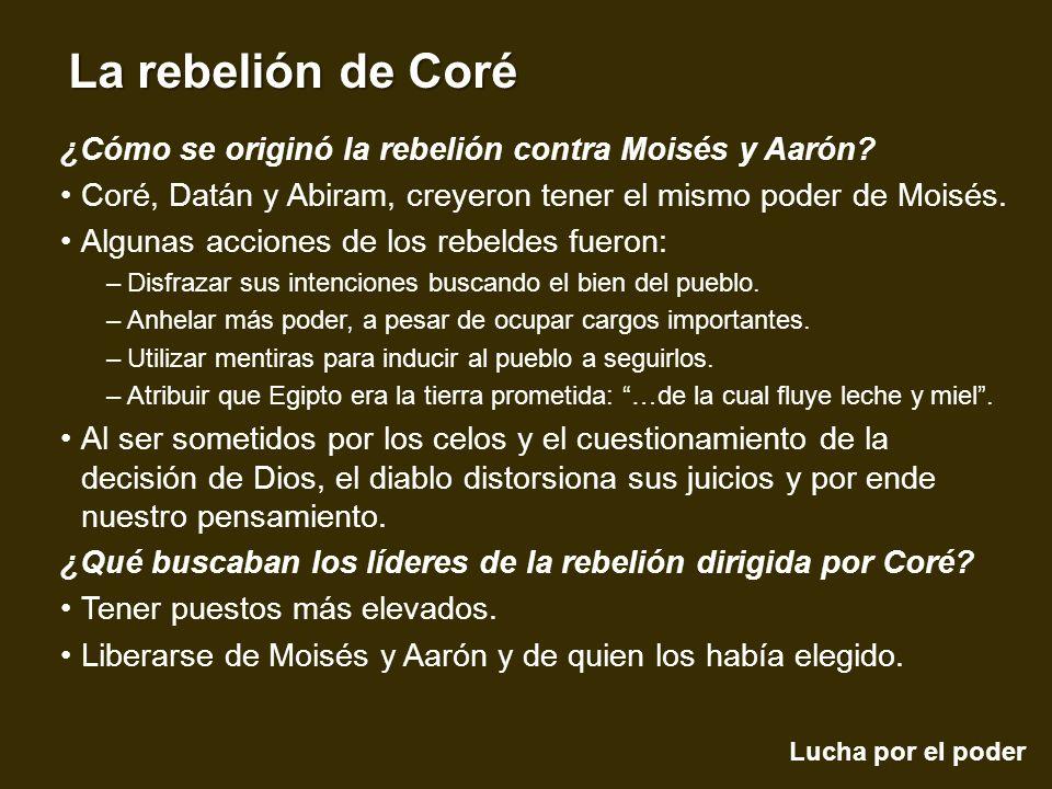 ¿Cómo se originó la rebelión contra Moisés y Aarón