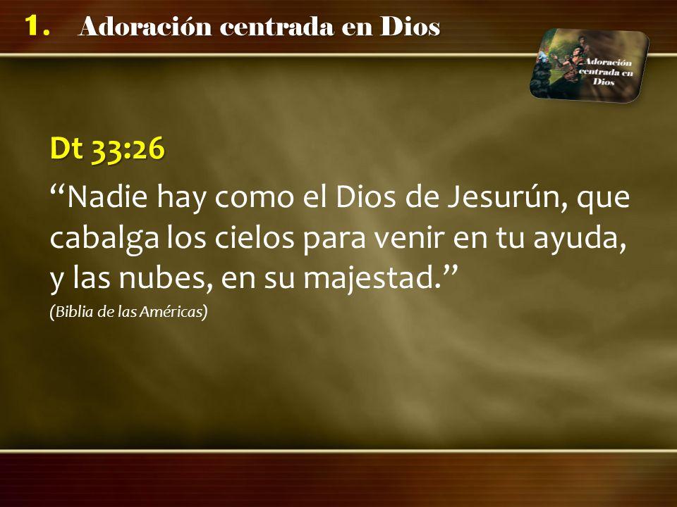 Dt 33:26 Nadie hay como el Dios de Jesurún, que cabalga los cielos para venir en tu ayuda, y las nubes, en su majestad.