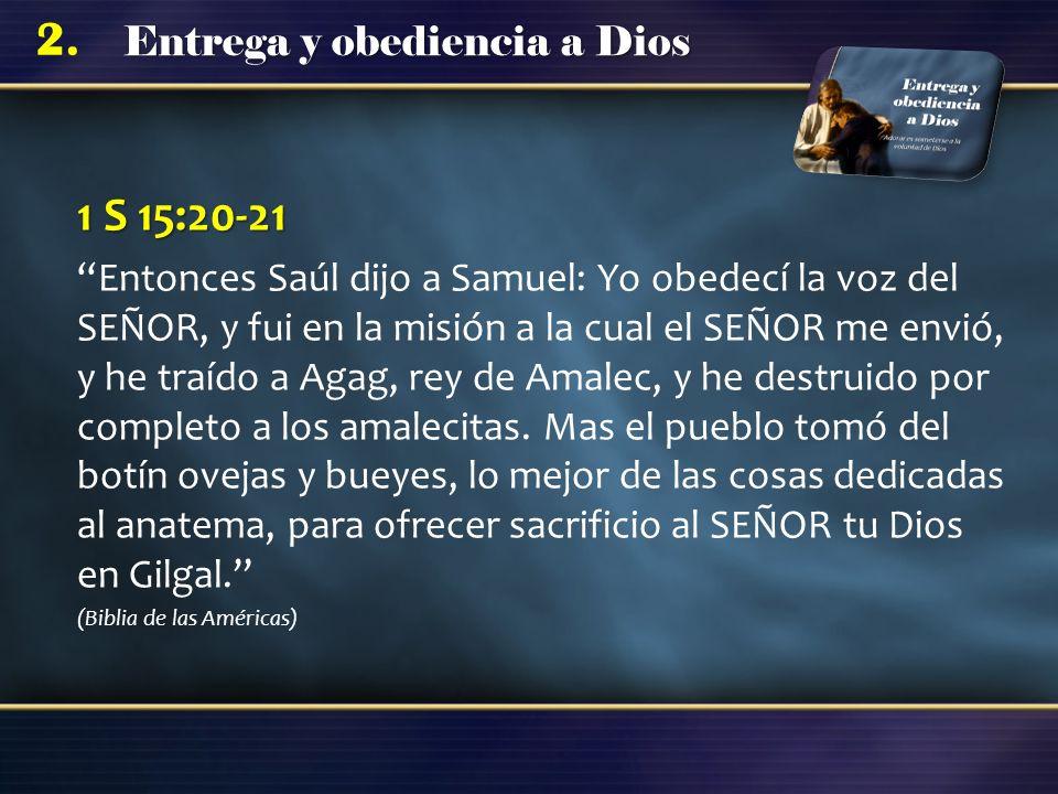 1 S 15:20-21