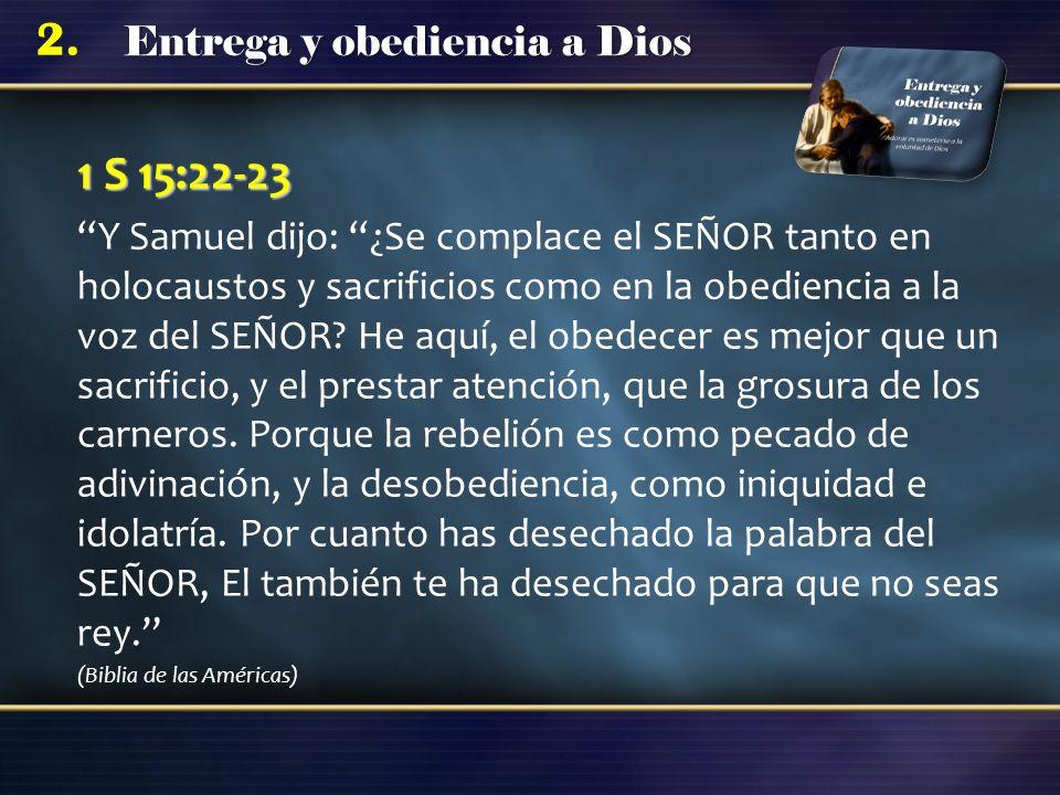 1 S 15:22-23