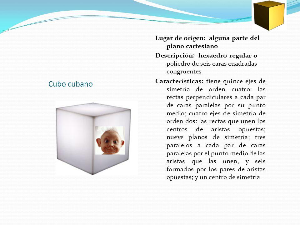 Cubo cubano Lugar de origen: alguna parte del plano cartesiano