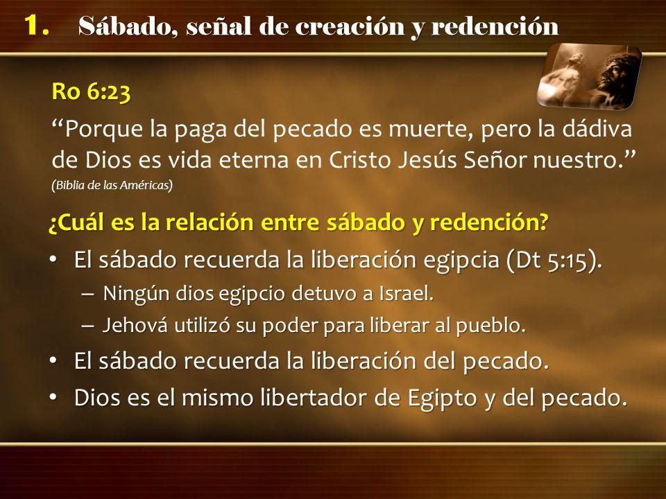 ¿Cuál es la relación entre sábado y redención
