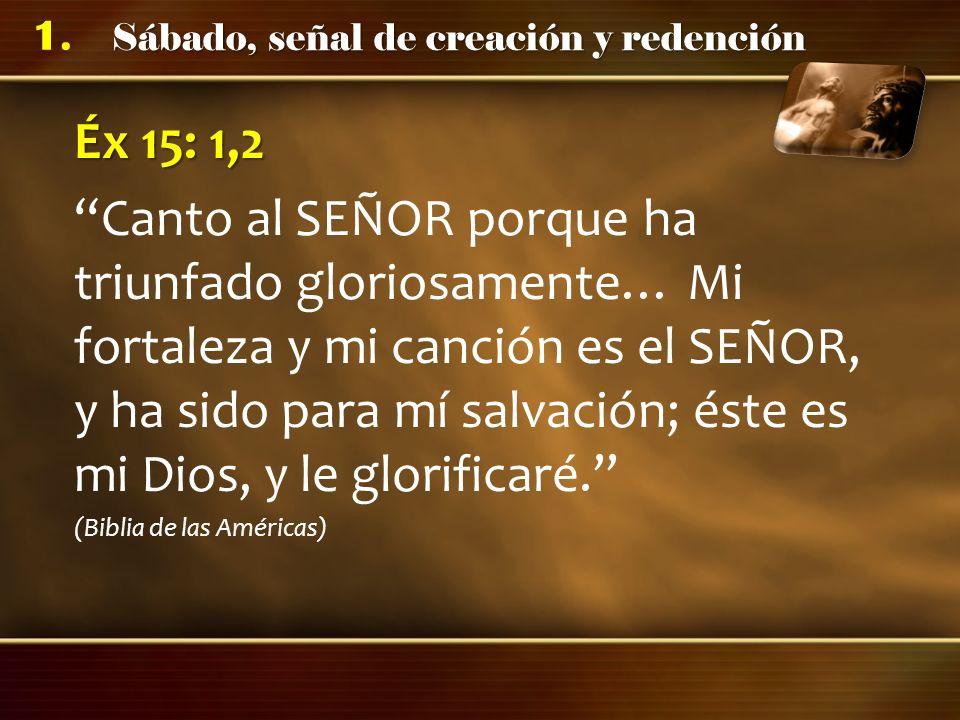 Éx 15: 1,2