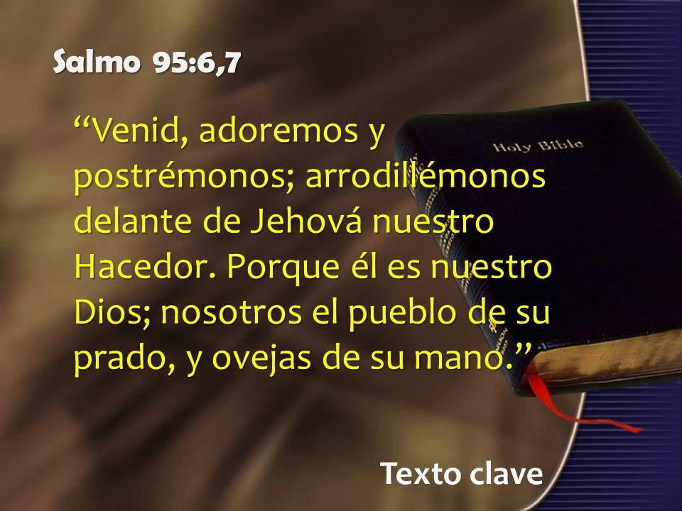 Salmo 95:6,7