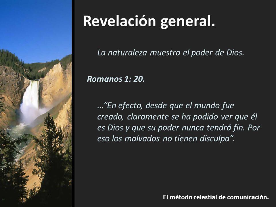 La naturaleza muestra el poder de Dios.