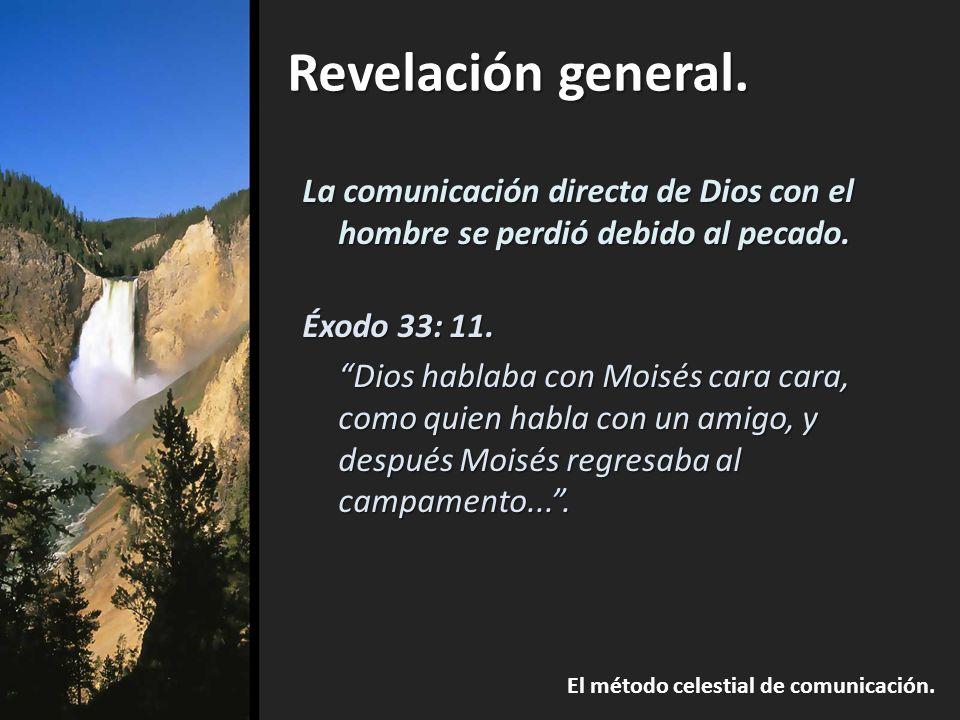 La comunicación directa de Dios con el hombre se perdió debido al pecado.