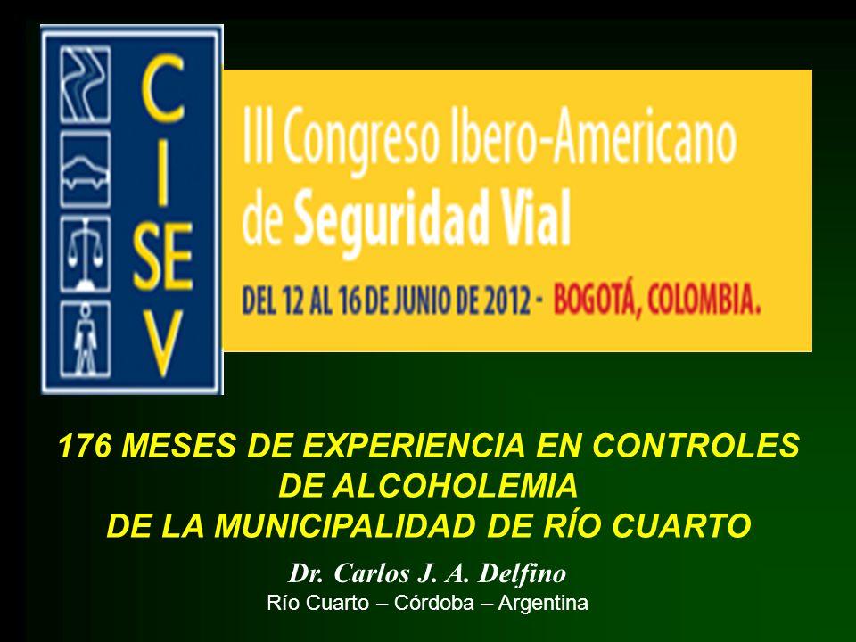 176 MESES DE EXPERIENCIA EN CONTROLES DE ALCOHOLEMIA