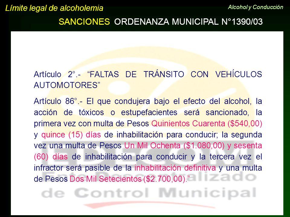 ORDENANZA MUNICIPAL N°1390/03