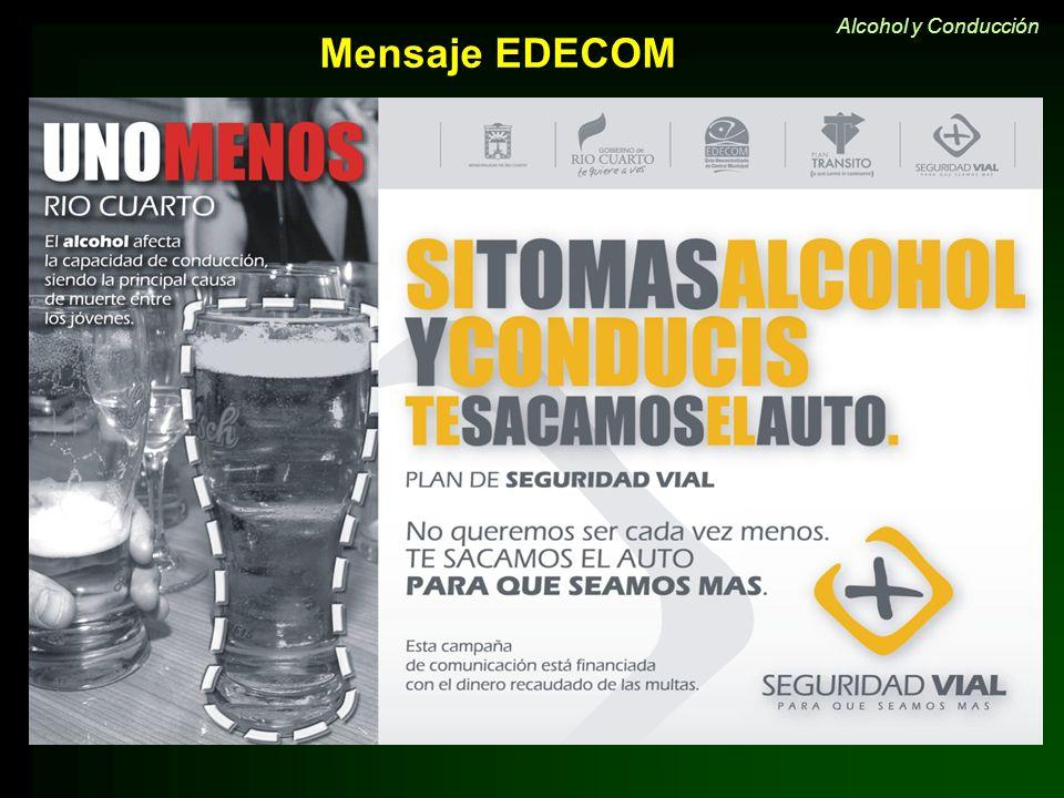 Alcohol y Conducción Mensaje EDECOM 22