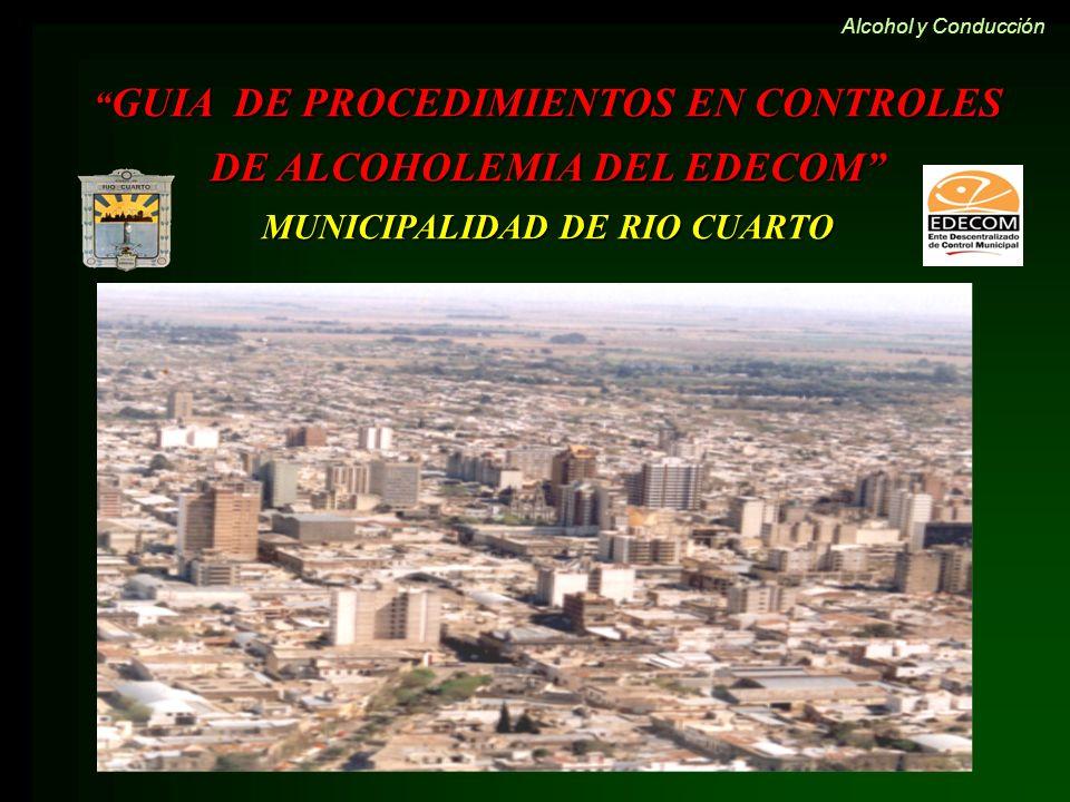 GUIA DE PROCEDIMIENTOS EN CONTROLES DE ALCOHOLEMIA DEL EDECOM