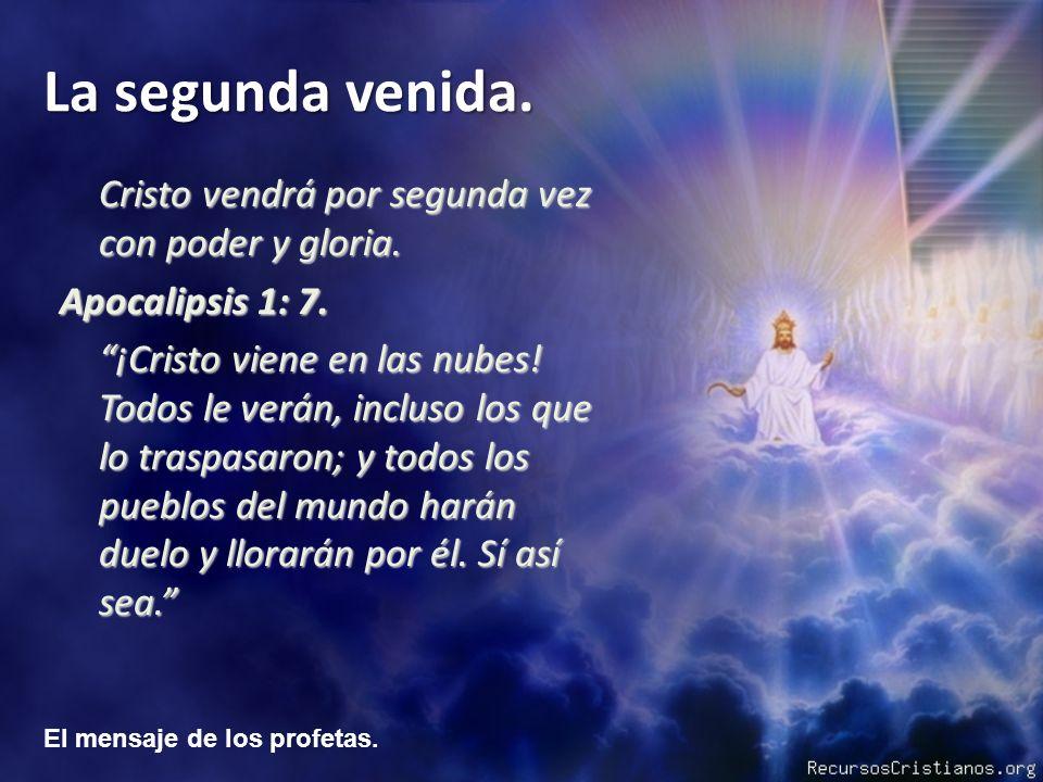Cristo vendrá por segunda vez con poder y gloria.