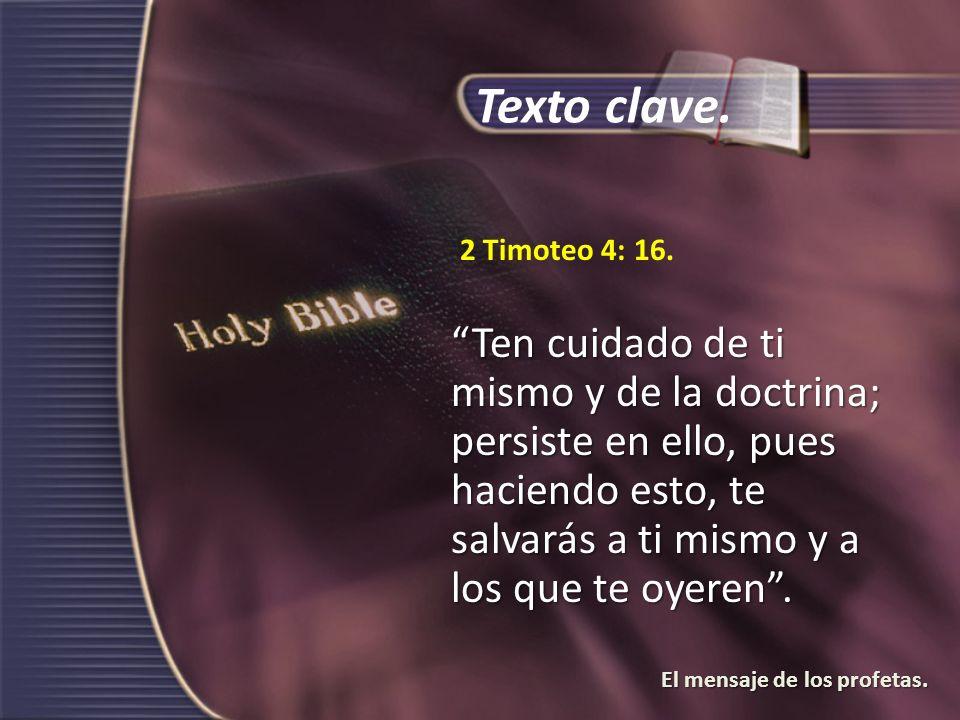 Texto clave. 2 Timoteo 4: 16.