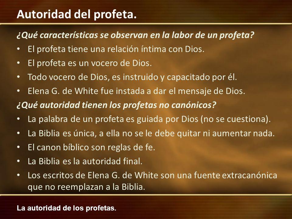 ¿Qué características se observan en la labor de un profeta