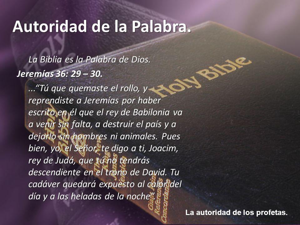 La Biblia es la Palabra de Dios.