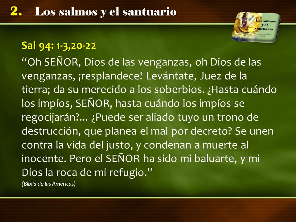 Sal 94: 1-3,20-22