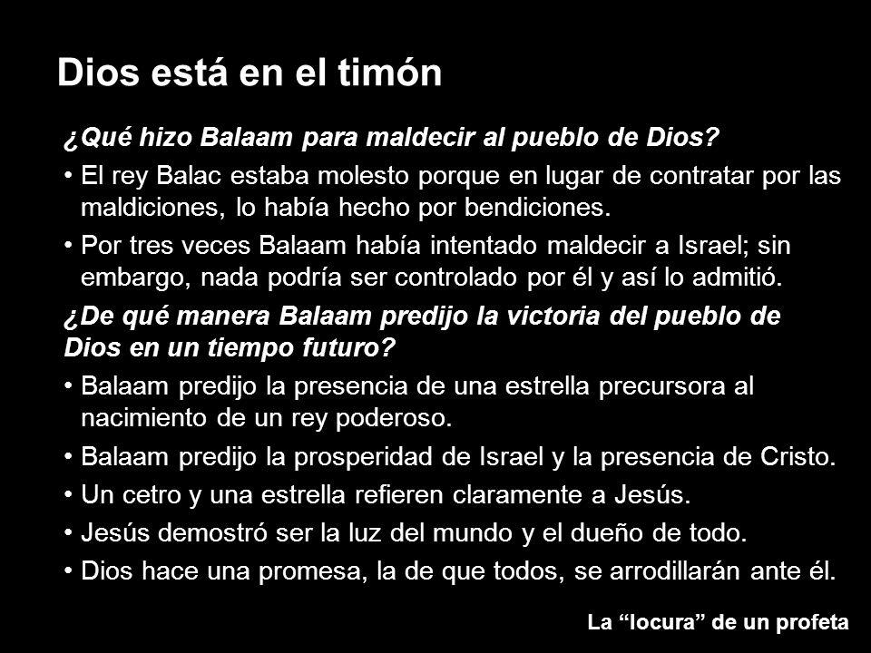 ¿Qué hizo Balaam para maldecir al pueblo de Dios