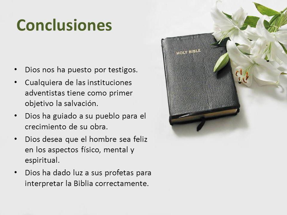 Conclusiones Dios nos ha puesto por testigos.