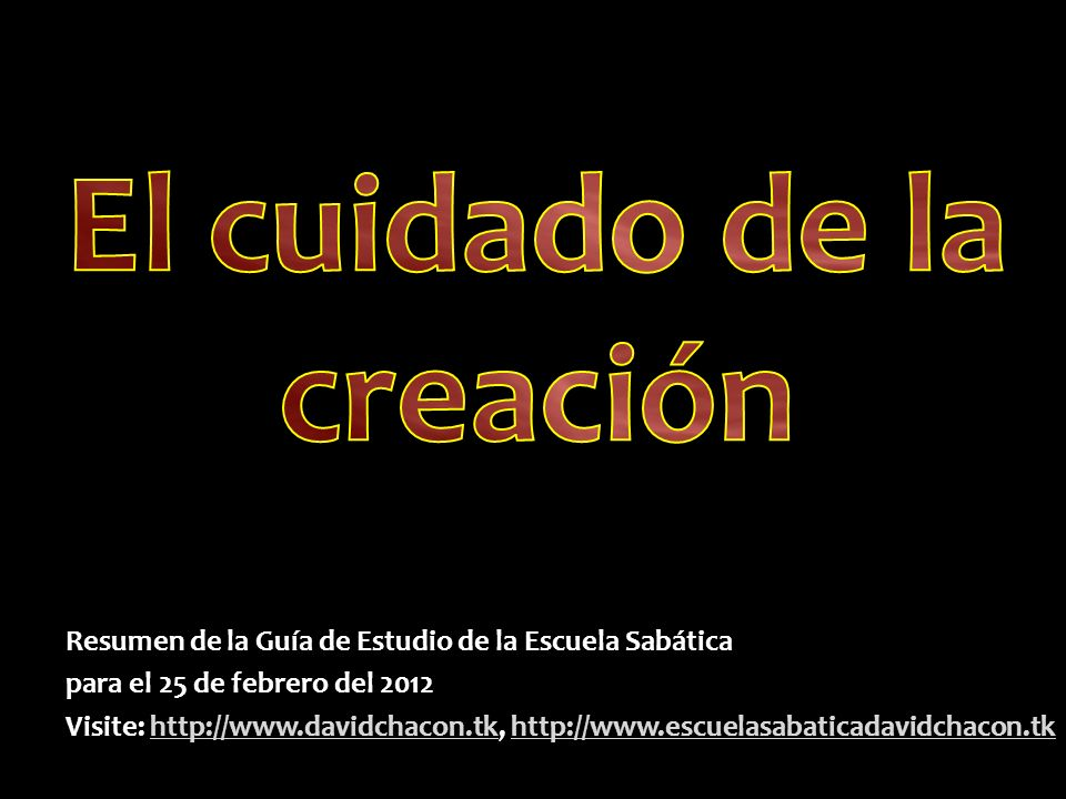 El cuidado de la creación
