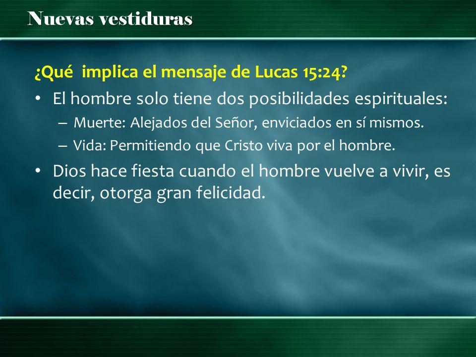 ¿Qué implica el mensaje de Lucas 15:24