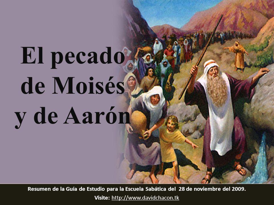 El pecado de Moisés y de Aarón