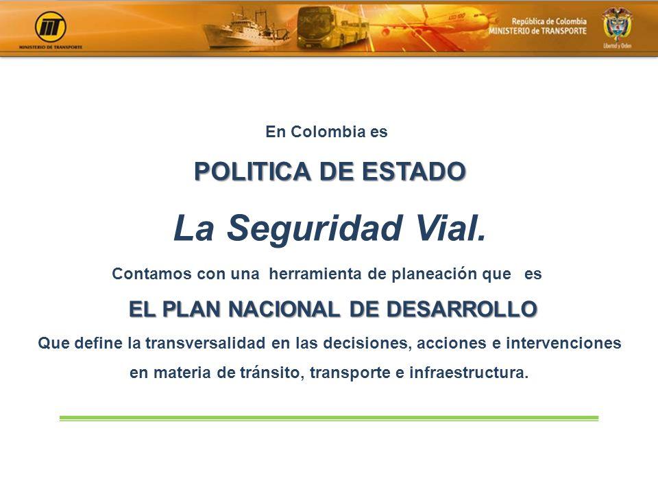 La Seguridad Vial. POLITICA DE ESTADO EL PLAN NACIONAL DE DESARROLLO