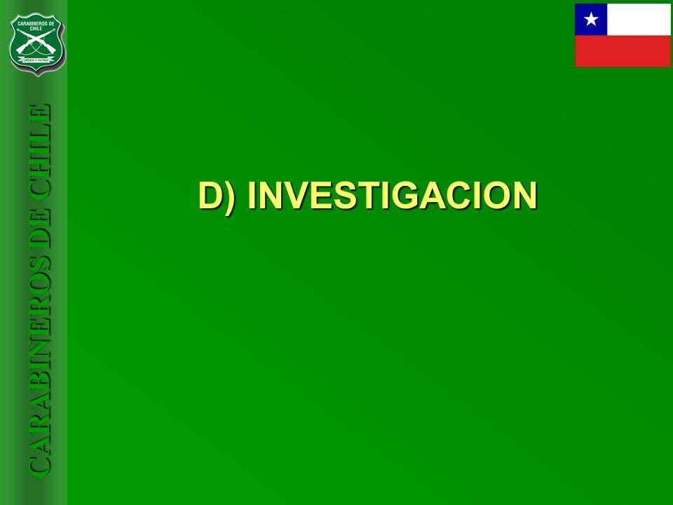 D) INVESTIGACION
