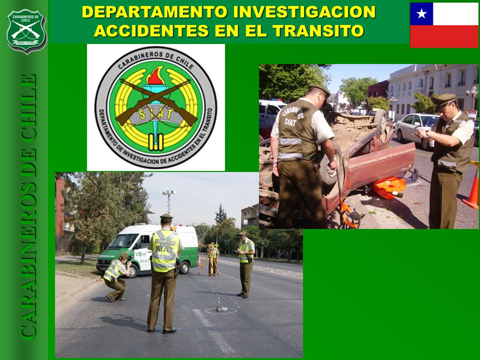 DEPARTAMENTO INVESTIGACION ACCIDENTES EN EL TRANSITO