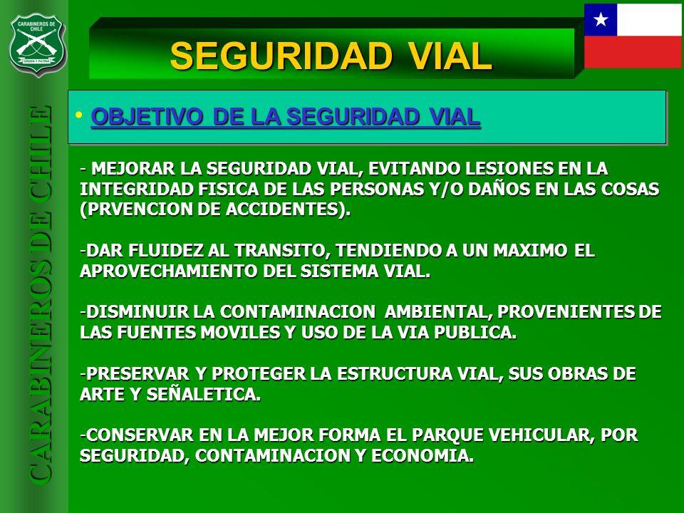 SEGURIDAD VIAL OBJETIVO DE LA SEGURIDAD VIAL
