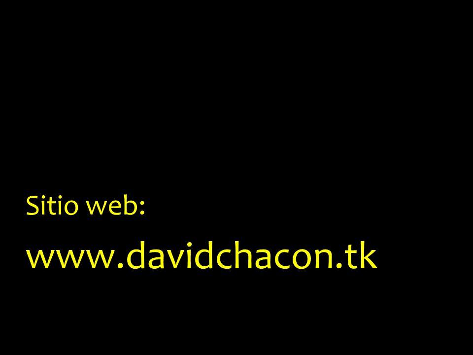 Sitio web: www.davidchacon.tk
