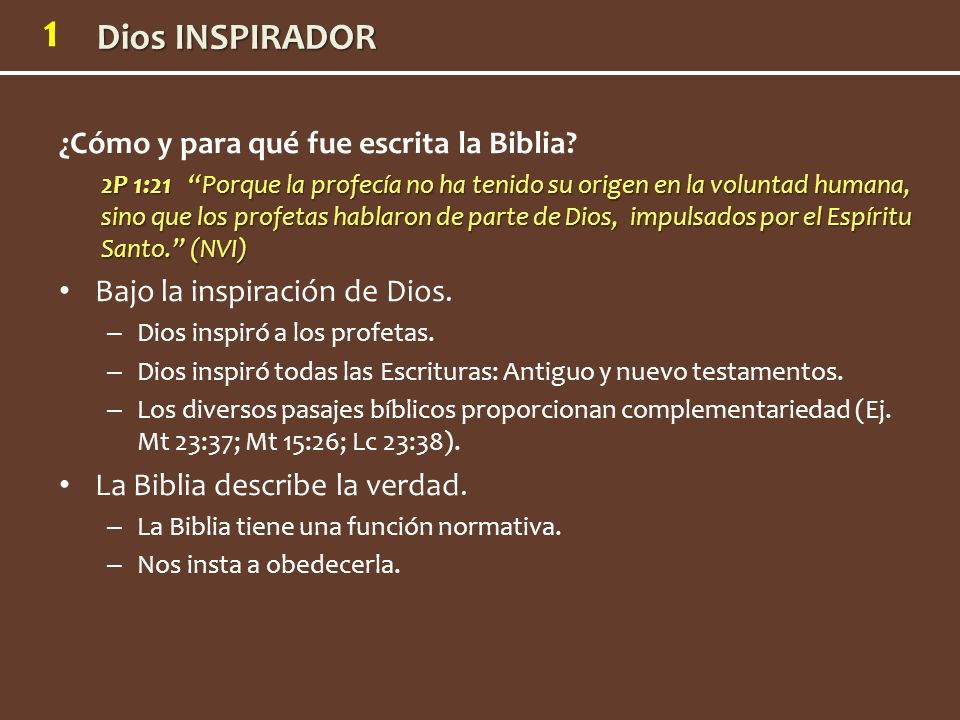 ¿Cómo y para qué fue escrita la Biblia