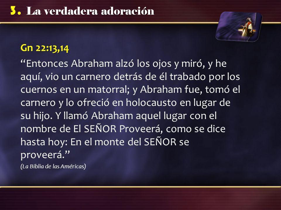 Gn 22:13,14
