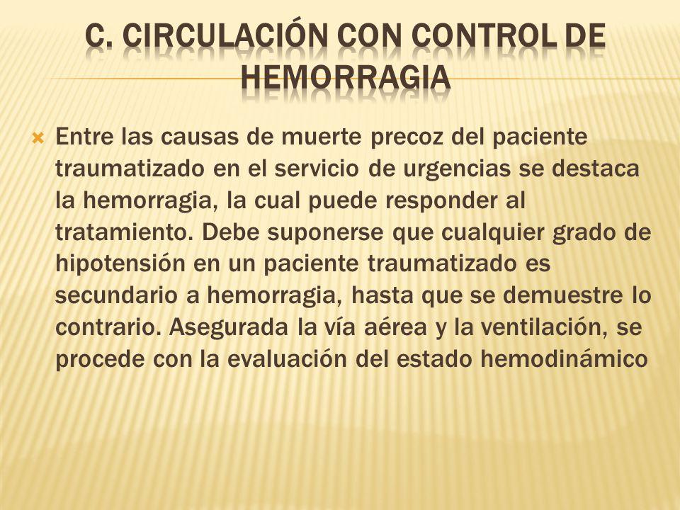 C. CIRCULACIÓN CON CONTROL DE HEMORRAGIA