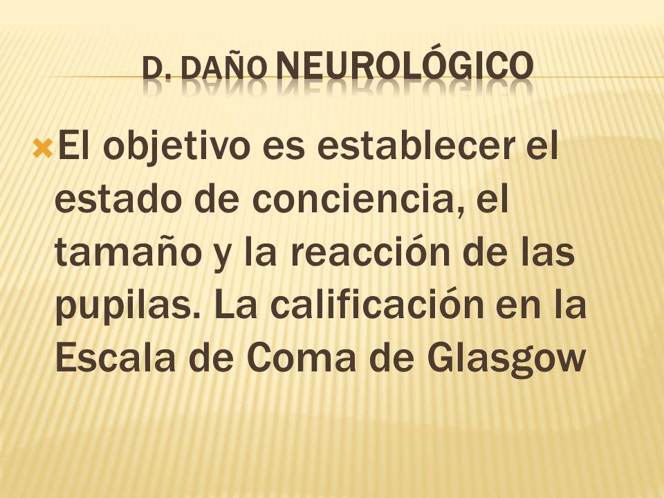 D. DAÑO NEUROLÓGICO