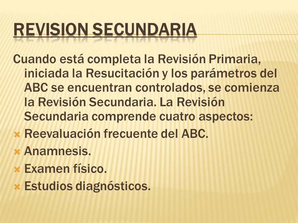 REVISION SECUNDARIA