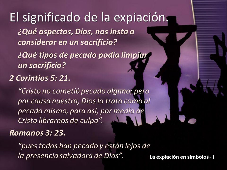 ¿Qué aspectos, Dios, nos insta a considerar en un sacrificio